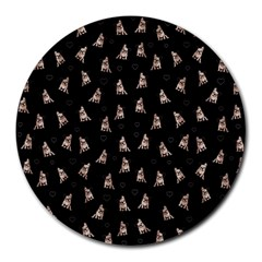 French Bulldog Round Mousepads by Valentinaart