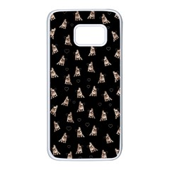 French Bulldog Samsung Galaxy S7 White Seamless Case by Valentinaart