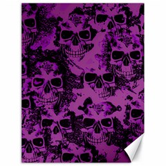 Cloudy Skulls Black Purple Canvas 18  X 24   by MoreColorsinLife