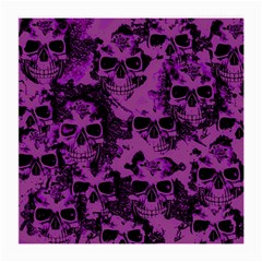 Cloudy Skulls Black Purple Medium Glasses Cloth (2 Side) by MoreColorsinLife