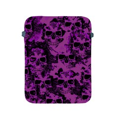 Cloudy Skulls Black Purple Apple Ipad 2/3/4 Protective Soft Cases by MoreColorsinLife