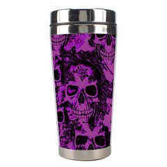 Cloudy Skulls Black Purple Stainless Steel Travel Tumblers by MoreColorsinLife