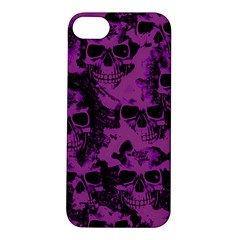 Cloudy Skulls Black Purple Apple Iphone 5s/ Se Hardshell Case by MoreColorsinLife