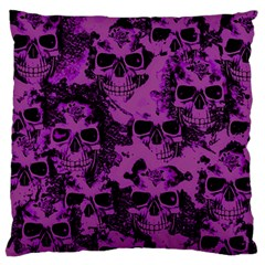 Cloudy Skulls Black Purple Standard Flano Cushion Case (one Side) by MoreColorsinLife