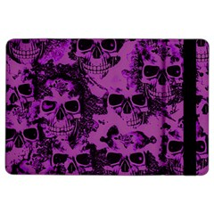 Cloudy Skulls Black Purple Ipad Air 2 Flip by MoreColorsinLife