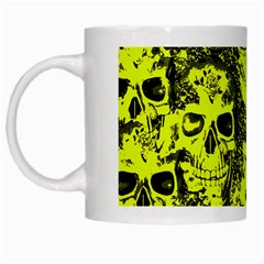 Cloudy Skulls Black Yellow White Mugs