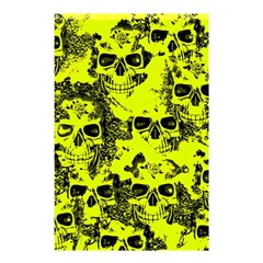 Cloudy Skulls Black Yellow Shower Curtain 48  X 72  (small)  by MoreColorsinLife
