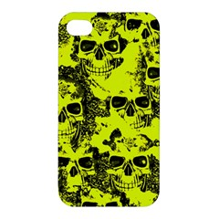Cloudy Skulls Black Yellow Apple Iphone 4/4s Hardshell Case by MoreColorsinLife
