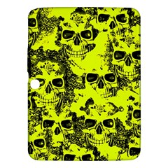 Cloudy Skulls Black Yellow Samsung Galaxy Tab 3 (10 1 ) P5200 Hardshell Case  by MoreColorsinLife