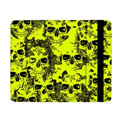 Cloudy Skulls Black Yellow Samsung Galaxy Tab Pro 8 4  Flip Case by MoreColorsinLife