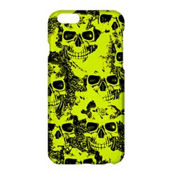 Cloudy Skulls Black Yellow Apple Iphone 6 Plus/6s Plus Hardshell Case by MoreColorsinLife