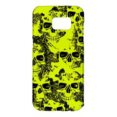 Cloudy Skulls Black Yellow Samsung Galaxy S7 Edge Hardshell Case