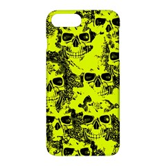 Cloudy Skulls Black Yellow Apple Iphone 7 Plus Hardshell Case by MoreColorsinLife