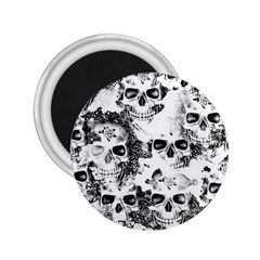 Cloudy Skulls B&w 2 25  Magnets by MoreColorsinLife