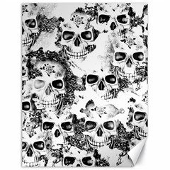 Cloudy Skulls B&w Canvas 18  X 24   by MoreColorsinLife