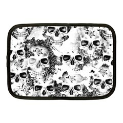 Cloudy Skulls B&w Netbook Case (medium)  by MoreColorsinLife