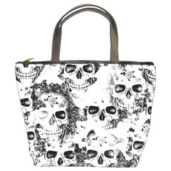 Cloudy Skulls B&w Bucket Bags by MoreColorsinLife