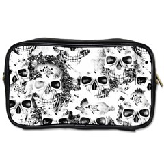 Cloudy Skulls B&w Toiletries Bags 2 Side by MoreColorsinLife
