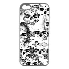 Cloudy Skulls B&w Apple Iphone 5 Case (silver) by MoreColorsinLife