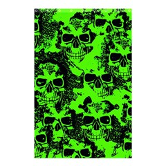 Cloudy Skulls Black Green Shower Curtain 48  X 72  (small)  by MoreColorsinLife