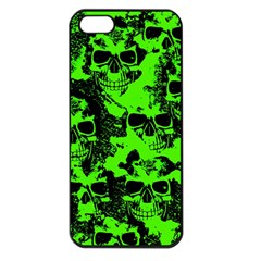 Cloudy Skulls Black Green Apple Iphone 5 Seamless Case (black) by MoreColorsinLife