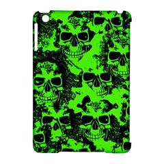Cloudy Skulls Black Green Apple Ipad Mini Hardshell Case (compatible With Smart Cover) by MoreColorsinLife