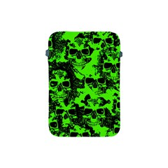 Cloudy Skulls Black Green Apple Ipad Mini Protective Soft Cases by MoreColorsinLife