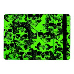 Cloudy Skulls Black Green Samsung Galaxy Tab Pro 10 1  Flip Case by MoreColorsinLife