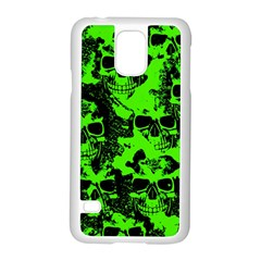 Cloudy Skulls Black Green Samsung Galaxy S5 Case (white) by MoreColorsinLife