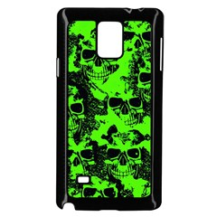Cloudy Skulls Black Green Samsung Galaxy Note 4 Case (black) by MoreColorsinLife