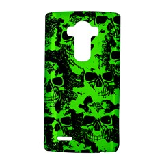 Cloudy Skulls Black Green Lg G4 Hardshell Case by MoreColorsinLife
