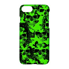 Cloudy Skulls Black Green Apple Iphone 7 Hardshell Case by MoreColorsinLife