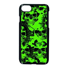 Cloudy Skulls Black Green Apple Iphone 7 Seamless Case (black) by MoreColorsinLife