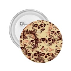 Cloudy Skulls Beige 2 25  Buttons by MoreColorsinLife