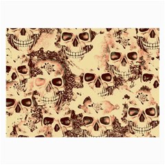 Cloudy Skulls Beige Large Glasses Cloth by MoreColorsinLife