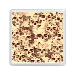 Cloudy Skulls Beige Memory Card Reader (square)  by MoreColorsinLife