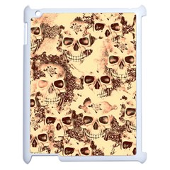 Cloudy Skulls Beige Apple Ipad 2 Case (white) by MoreColorsinLife