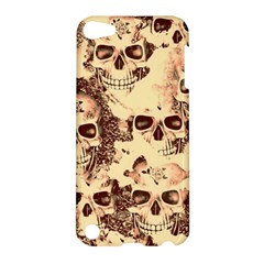 Cloudy Skulls Beige Apple Ipod Touch 5 Hardshell Case by MoreColorsinLife