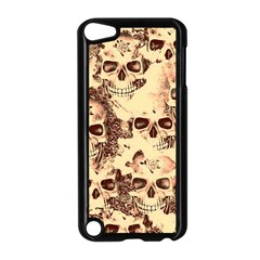 Cloudy Skulls Beige Apple Ipod Touch 5 Case (black) by MoreColorsinLife
