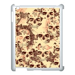 Cloudy Skulls Beige Apple Ipad 3/4 Case (white) by MoreColorsinLife