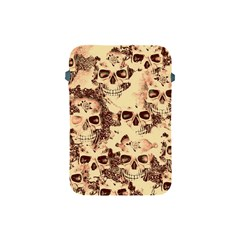 Cloudy Skulls Beige Apple Ipad Mini Protective Soft Cases by MoreColorsinLife