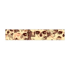 Cloudy Skulls Beige Flano Scarf (mini) by MoreColorsinLife