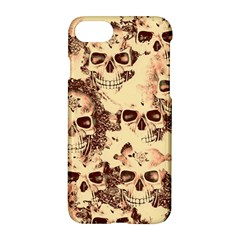 Cloudy Skulls Beige Apple Iphone 7 Hardshell Case by MoreColorsinLife