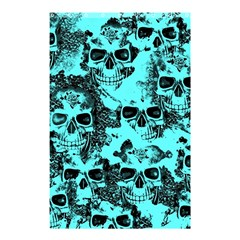 Cloudy Skulls Aqua Shower Curtain 48  X 72  (small)  by MoreColorsinLife