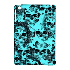 Cloudy Skulls Aqua Apple Ipad Mini Hardshell Case (compatible With Smart Cover) by MoreColorsinLife