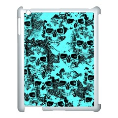 Cloudy Skulls Aqua Apple Ipad 3/4 Case (white) by MoreColorsinLife