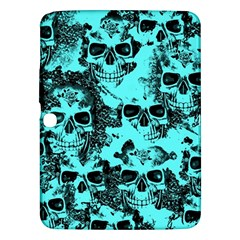 Cloudy Skulls Aqua Samsung Galaxy Tab 3 (10 1 ) P5200 Hardshell Case  by MoreColorsinLife