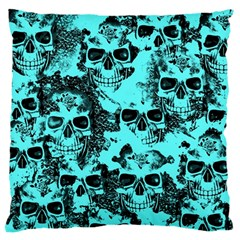 Cloudy Skulls Aqua Standard Flano Cushion Case (two Sides) by MoreColorsinLife