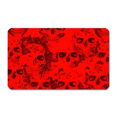Cloudy Skulls Red Magnet (rectangular) by MoreColorsinLife