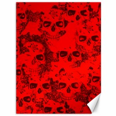 Cloudy Skulls Red Canvas 36  X 48   by MoreColorsinLife